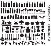 vector set silhouettes of...   Shutterstock .eps vector #212965690