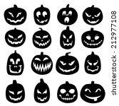 jack o lantern silhouettes | Shutterstock .eps vector #212977108
