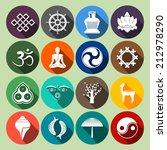 buddhism yoga oriental... | Shutterstock .eps vector #212978290