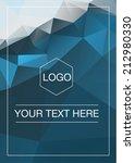 polygonal greeting card mockup | Shutterstock .eps vector #212980330