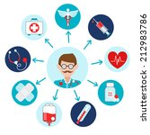 medical emergency first aid... | Shutterstock .eps vector #212983786