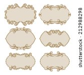 vector set of decorative ornate ... | Shutterstock .eps vector #212988298