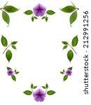 floral frame on white background | Shutterstock . vector #212991256