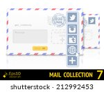 envelope with twitter form and...