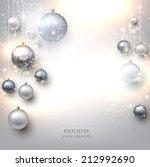 elegant shiny christmas... | Shutterstock .eps vector #212992690