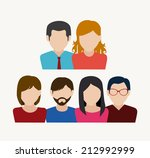 people design over white... | Shutterstock .eps vector #212992999