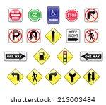 traffic signs vector | Shutterstock .eps vector #213003484