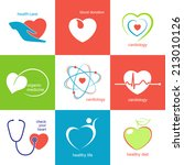 set of icons and emblems with... | Shutterstock .eps vector #213010126
