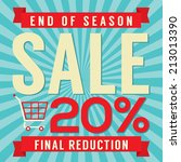 20 percent end of season sale... | Shutterstock .eps vector #213013390
