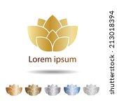 vector lotus flowers design. | Shutterstock .eps vector #213018394