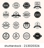 vector black and white retro... | Shutterstock .eps vector #213020326