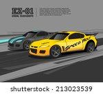 racing car design template | Shutterstock .eps vector #213023539