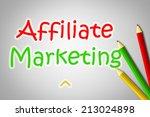 affiliate marketing concept... | Shutterstock . vector #213024898
