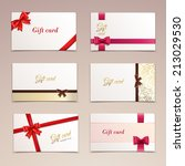 gift cardboard paper cards set... | Shutterstock .eps vector #213029530