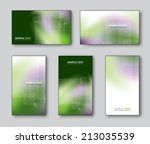 business or gift cards. vector... | Shutterstock .eps vector #213035539