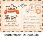 happy halloween vintage... | Shutterstock .eps vector #213036838