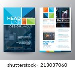 vector brochure flyer design... | Shutterstock .eps vector #213037060