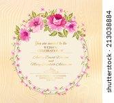 border of flowers in vintage... | Shutterstock .eps vector #213038884
