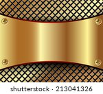 background with a metallic gold ... | Shutterstock .eps vector #213041326