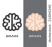 brain icons. vector set eps8 | Shutterstock .eps vector #213042340