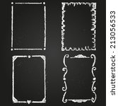 set of chalk painted frames on... | Shutterstock .eps vector #213056533