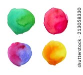 colorful watercolor isolated...   Shutterstock . vector #213058330