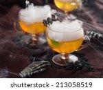 halloween drink for party ...   Shutterstock . vector #213058519