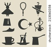 turkish national icons set   ... | Shutterstock . vector #213060358