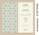 wedding vintage invitation card ... | Shutterstock .eps vector #213079060