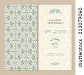 wedding vintage invitation card ... | Shutterstock .eps vector #213079060