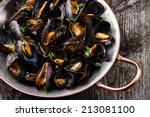 Boiled Mussels In Copper...
