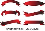 a collection of red scrolls on... | Shutterstock .eps vector #2130828