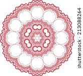 circle ornament  round lace ...   Shutterstock .eps vector #213088264