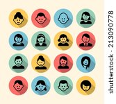 person icons   Shutterstock .eps vector #213090778
