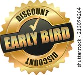 Gold Early Bird Discount Sign