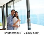 romantic happy young couple... | Shutterstock . vector #213095284