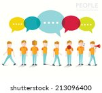men talk and gather together... | Shutterstock .eps vector #213096400