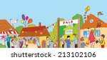 fair holiday at the town... | Shutterstock .eps vector #213102106