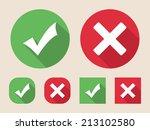 check mark icons  flat design...