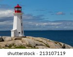 Peggy\'s Cove Lighthouse During...