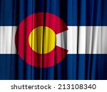 colorado flag and abstract... | Shutterstock . vector #213108340