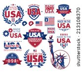 label made in the usa | Shutterstock .eps vector #213108370