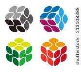 cube molecule technology... | Shutterstock .eps vector #213108388