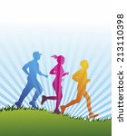 a group of jogger as colored... | Shutterstock . vector #213110398