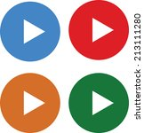 play round button   Shutterstock .eps vector #213111280