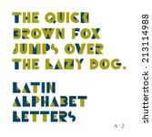 Geometric shapes alphabet letters. Retro font. Latin alphabet letters - stock vector