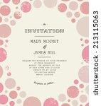 wedding invitation card... | Shutterstock .eps vector #213115063
