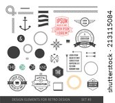 hipster style infographics... | Shutterstock .eps vector #213115084