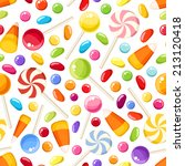 vector seamless background with ... | Shutterstock .eps vector #213120418
