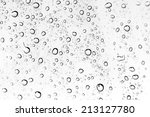 Background Of Water Drops On...